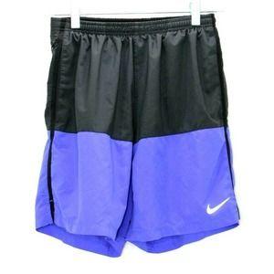Nike Running Shorts Black Purple Youth Medium